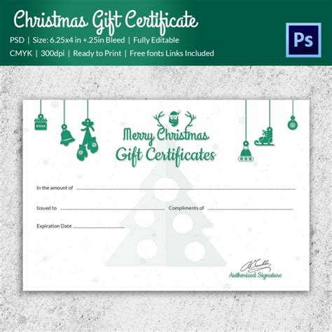 gift certificate template psd gift certificate templates 21 psd format