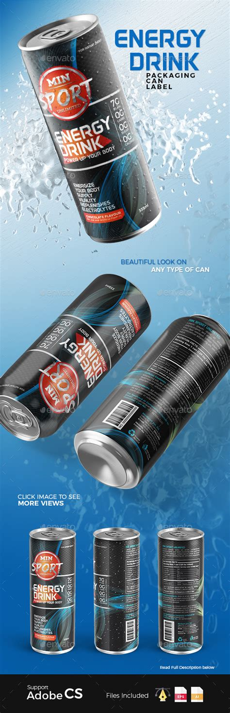 energy drink label template energy drink packaging can label by plexa designs
