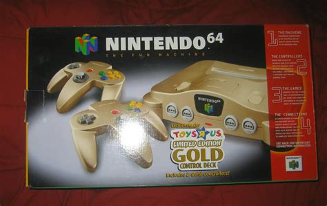 in the box toys r us nintendo 64 n64 toys r us exclusive gold system brand new