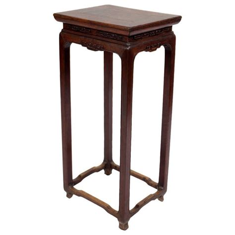 how tall should a side table be antique chinese walnut wood flower stand tall side table