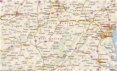 west virginia map cities west virginia map