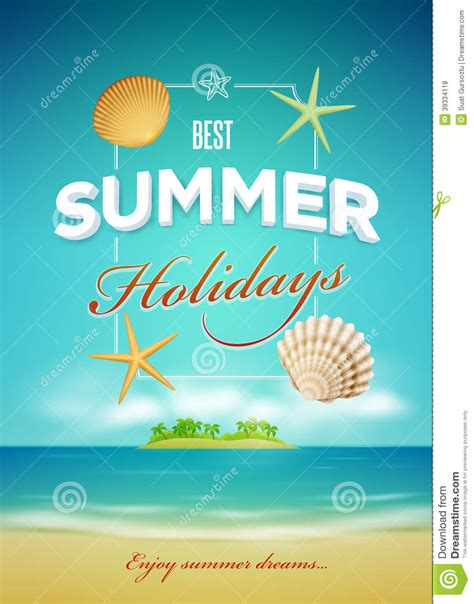 summer poster design template stock vector image 39334118