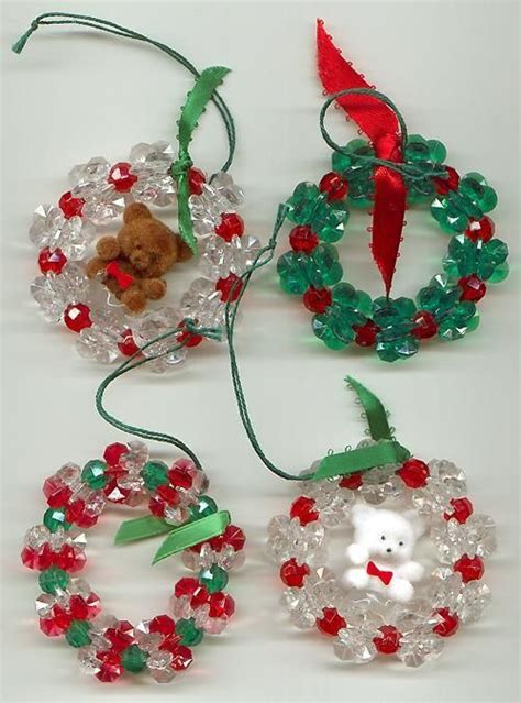 best 25 beaded christmas ornaments ideas on pinterest