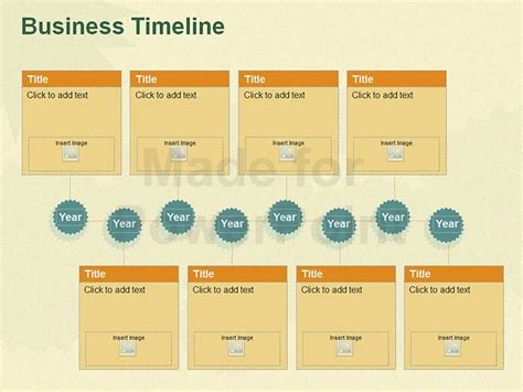 business timeline fully editable ppt template