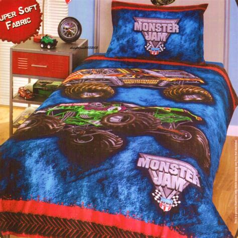 monster jam comforter set monster jam boy s microfiber comforter monster trucks