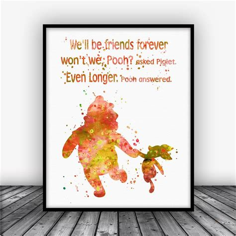 Poster Quote Winnie The Pooh quotes about friendship winnie the pooh quotes of the day