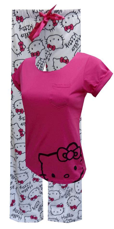 Pajamas Hello Pink webundies fever hello pink pajama set hello print