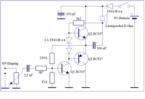 transistor bc547 funktion elektronik projekte endstufen