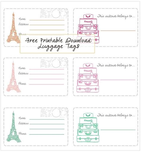 printable luggage tags template air canada 17 best images about world traveller on pinterest free