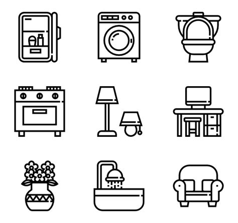 home decor icon 10 home decor icon packs vector icon packs svg psd