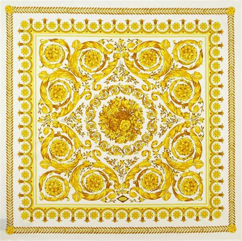 gold versace pattern versace foulard square scarf gold square scarf