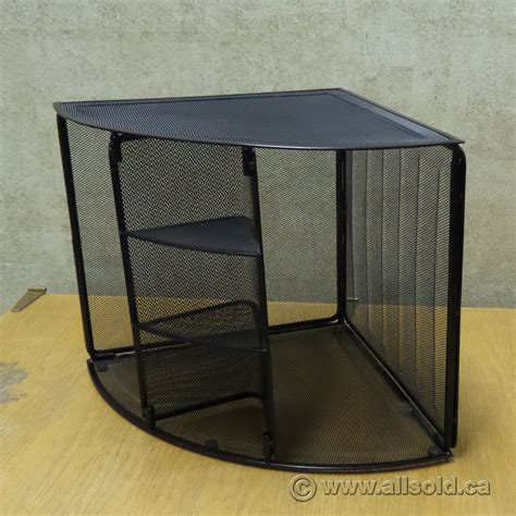 rolodex black mesh unique corner desk organizer allsold