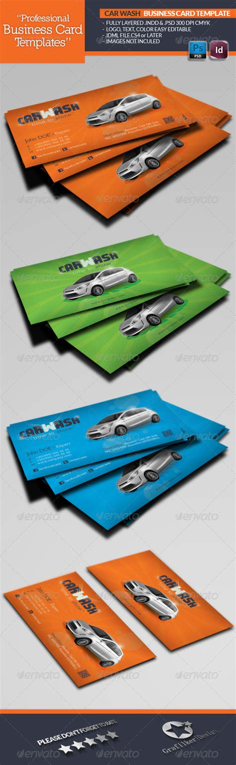 car wash business card template psd car wash business card template graphicriver