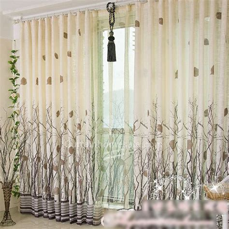 High end living room or bedroom french door panels modern curtains