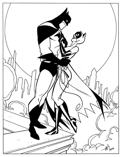 Batman Catwoman Coloring Pages | batman and catwoman by timlevins on deviantart