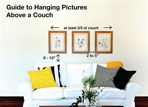 how high to hang pictures over sofa easy tips to hang pictures above a couch utr d 233 co blog