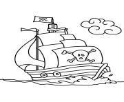 dessin facile bateau pirate coloriage pirate 224 imprimer