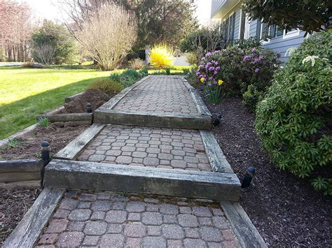 how to make railroad ties landscaping front yard