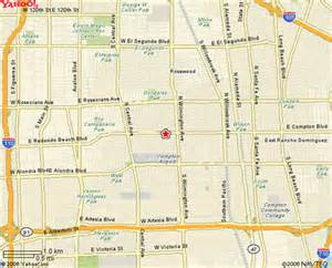 map of compton california los angeles map compton