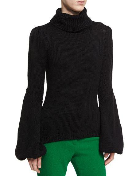 Bell Sleeve Wool Blend Knit Top 20 bell sleeve turtlenecks on trend for winter
