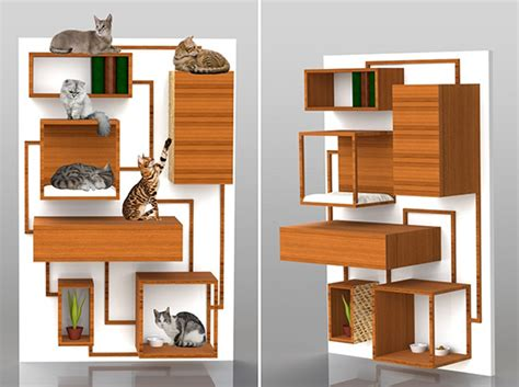 Multifunction Cat Climbing Wall Concept from Spase