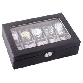 Kotak Jam Watches Box Uk35x9x12 kotak jam tangan luxury 10 slot black jakartanotebook