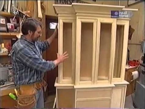 new yankee workshop kitchen cabinets norm shows you how to build a breakfront cabinet