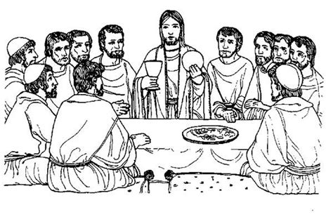 last supper coloring page printable coloring page of the last supper search