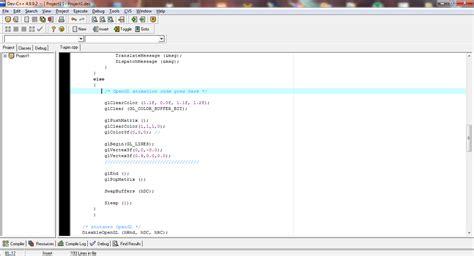 membuat virus dengan dev c membuat garis dengan opengl pada dev c firs t blog