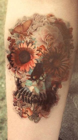 skull tattoo designs with flowers oh my gosh wow this is really amazing to me floral