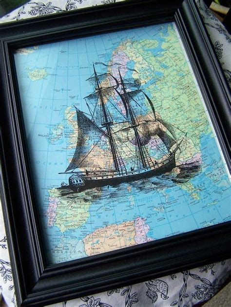 From Pirate To Yacht Club The Nautical Trend Is Evolving by Ship Nautical Map Pirate Ship Boat Atlas Vintage