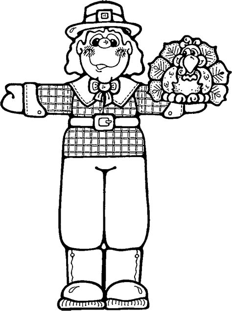 free pilgrim boy coloring pages