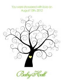Family Tree Thumbprint Template by Printable Baby Shower Thumbprint Tree By Belladellacreations