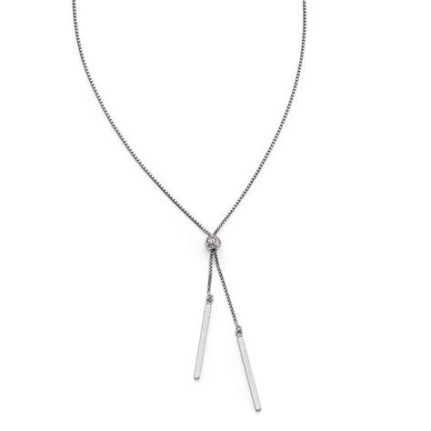 Bar Lariat Necklace bar drop lariat necklace in sterling silver view