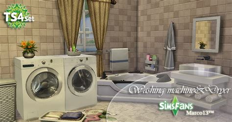 Dining Room Set by Washing Machine Amp Dryer By Marco13 At Sims Fans 187 Sims 4