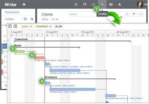 wrike templates timeline view gantt chart wrike help center