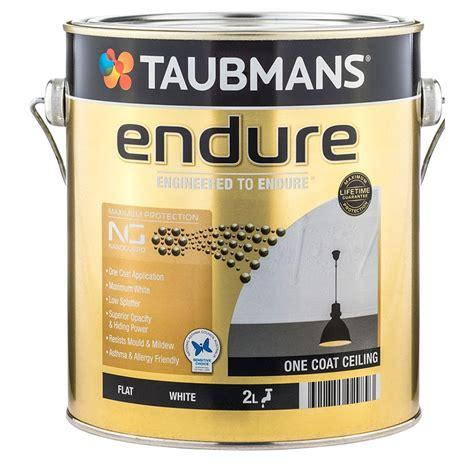 One Coat Ceiling Paint by Taubmans Endure 2l White Flat One Coat Ceiling Paint