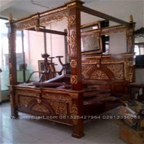 Ranjang Kayu Ukuran 160x200 tempat tidur gebyok ranjang gebyok dipan gebyok jati jepara ud lumintu gallery furniture