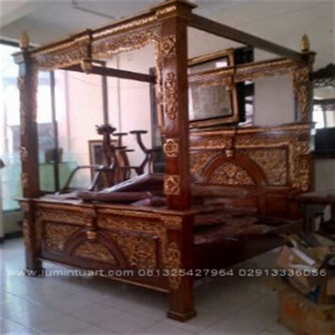 Ranjang Jati Kanopi tempat tidur gebyok ranjang gebyok dipan gebyok jati