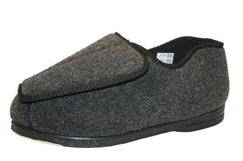 wide slippers s coolers eee fitting wide orthopaedic velcro