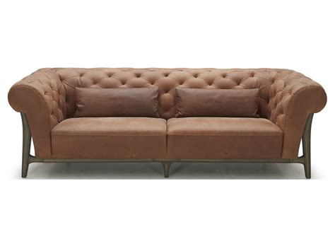 leather and wood sofa chesterfield sofa in leather wood not just brown