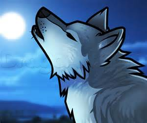 how to draw a howling wolf easy step by step forest