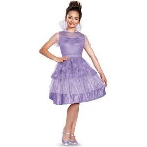 Fantasia descendentes disney mal vestido infantil luxo