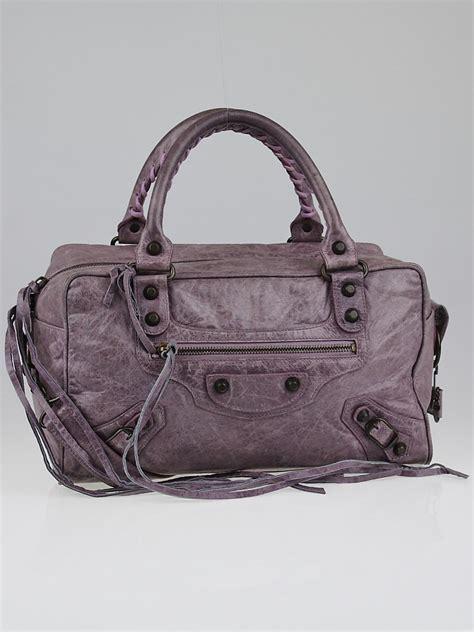 Balenciaga Leather Ring Box Bag by Balenciaga Lilac Chevre Leather Box Bag Yoogi S Closet