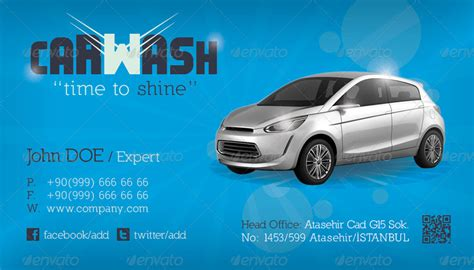 car wash business cards templates car wash business card template by grafilker graphicriver