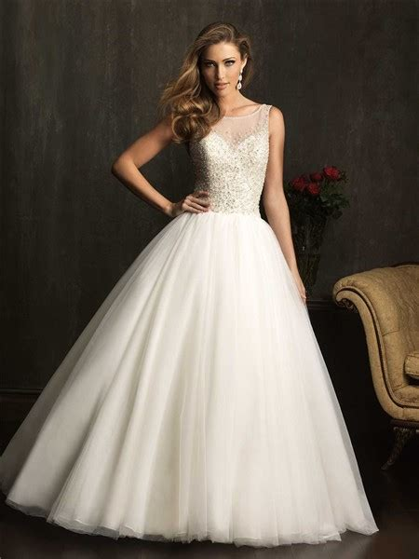 sheer beaded wedding dress gown sheer illusion neckline tulle beaded wedding