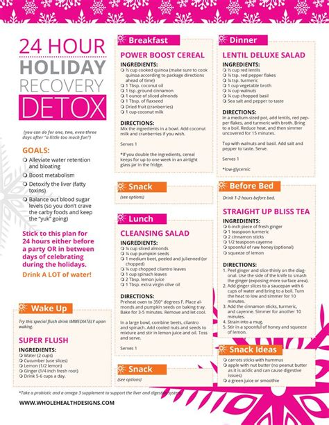 24 Hour Detox Cleanse Diet by 24 Hour Recovery Detox Best Diets The Doctor
