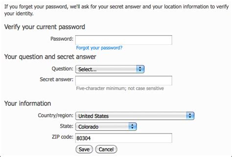 windows live reset password secret question how do i set my secret question in msn hotmail ask dave