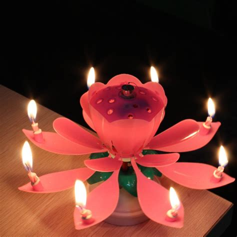 image gallery happy birthday lotus candle