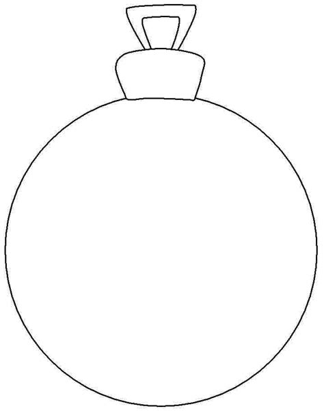 blank christmas ornament coloring page best photos of christmas ornament coloring templates